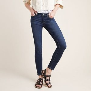 Paige Dark Wash Denim Verdugo Ankle Skinny Jeans